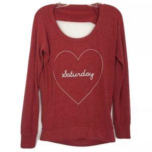 Chaser Red Saturday Heart Soft Fleece Sweatshirt